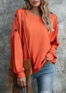 """serch result in google SERM"""" bellelily coupon Code """"Button Batwing Sleeve O-Neck Blouse"""""""